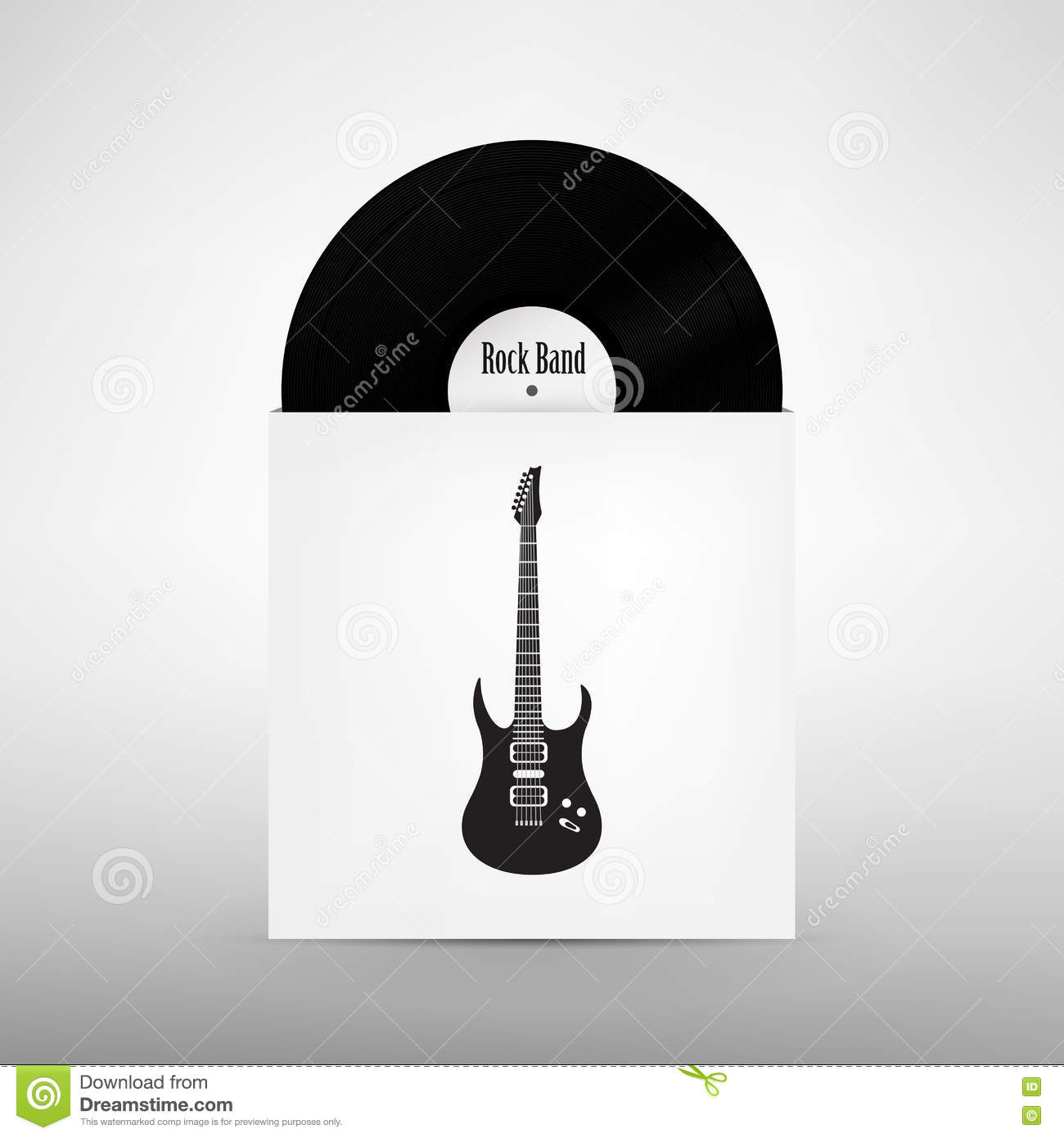 Rock Music Cover Rock Band Design Template Stock Illustration Illustration Of Loud