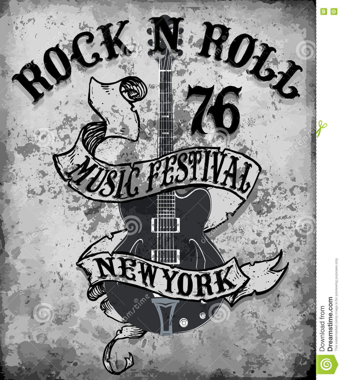 Gallery of rock n roll poster design