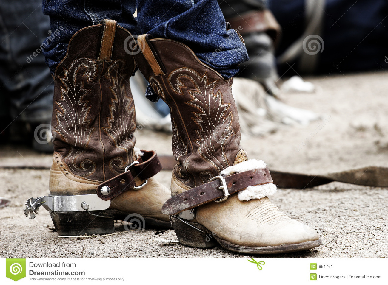 Rodeo Cowboy Boots Spurs Stock Image Image Of Extreme