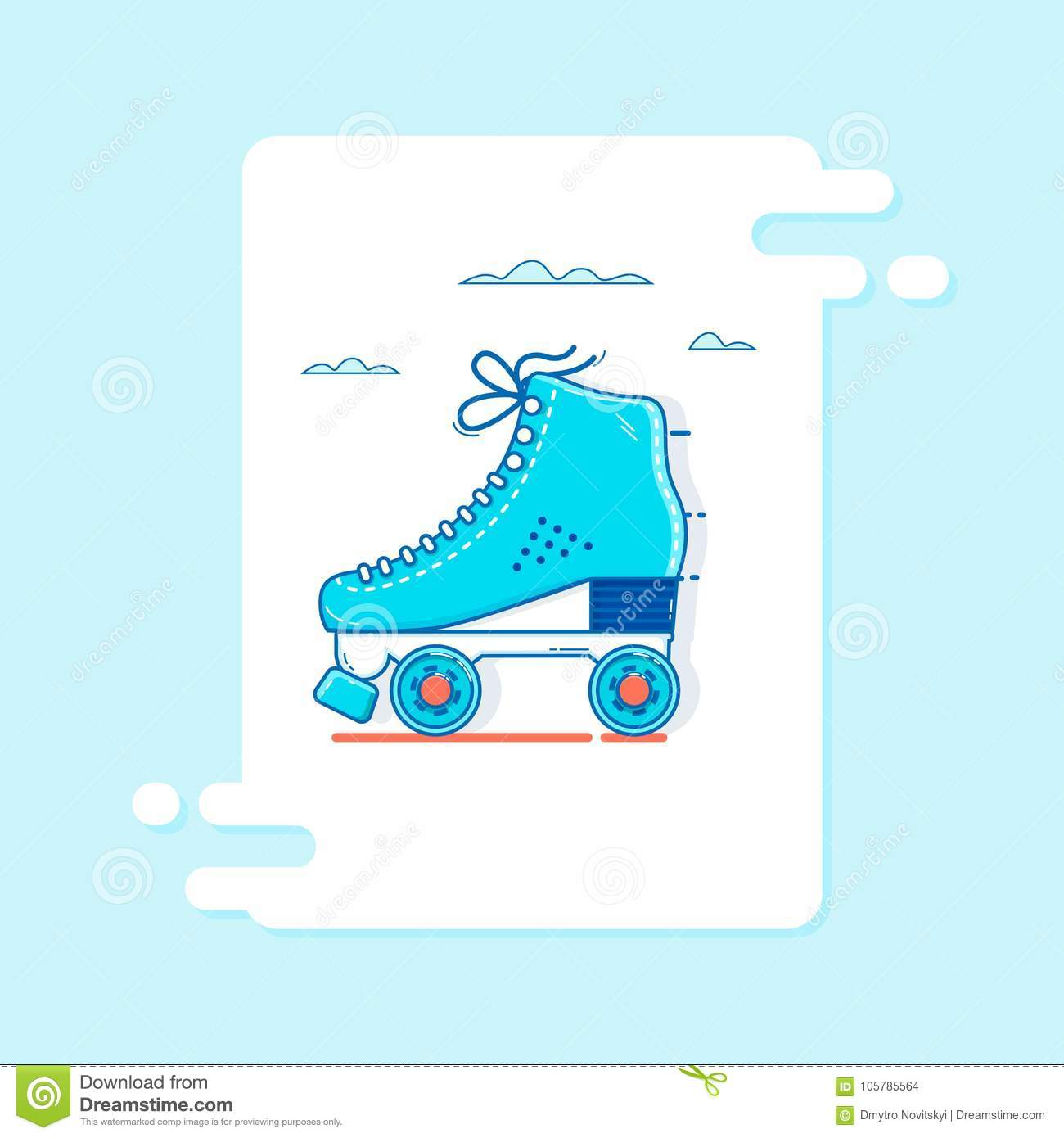Möbel Modern Design Roller Skate Icon Thin Line For Web And Mobile Modern