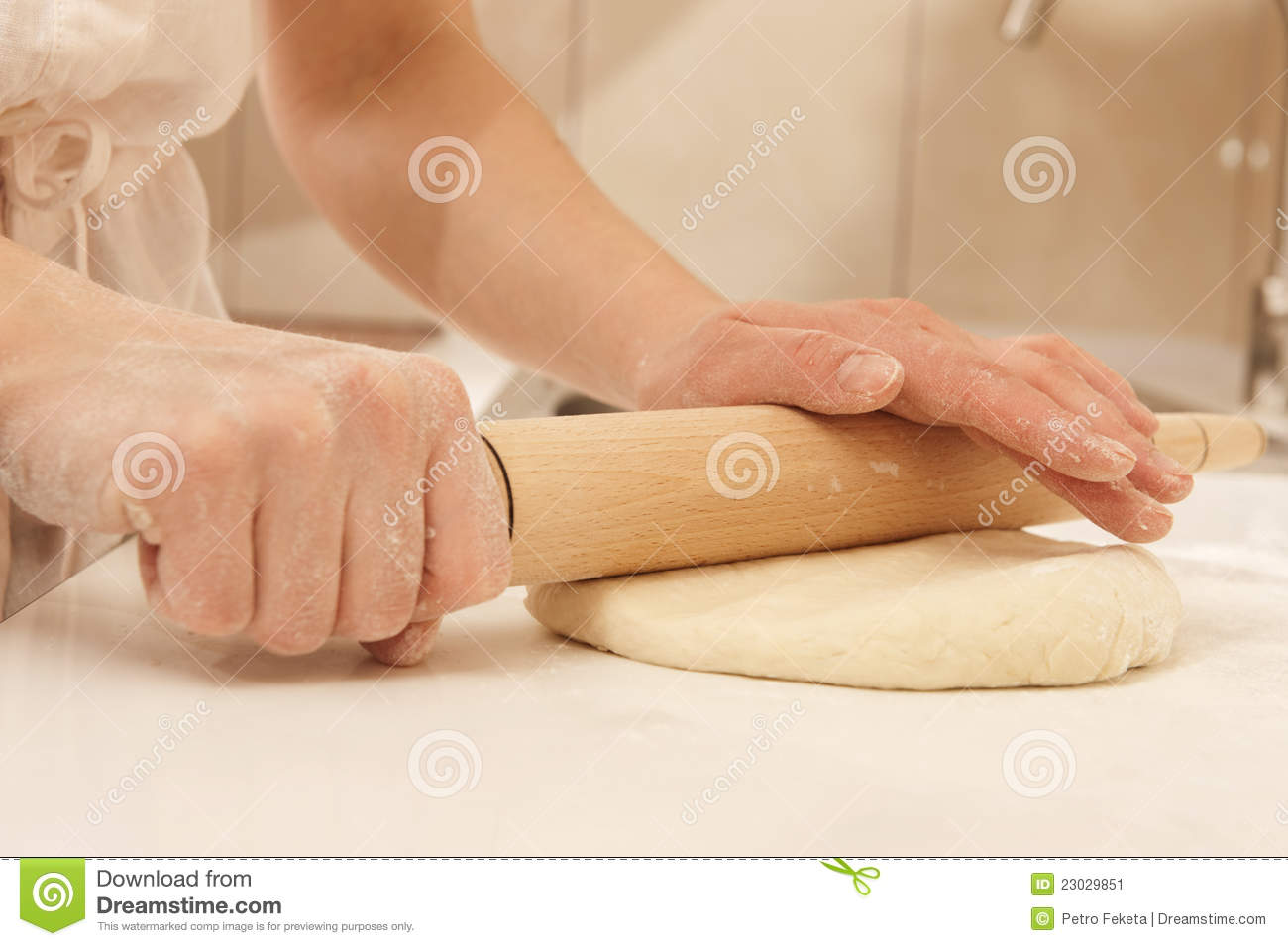 Pizza Roller Rolling Dough Stock Image. Image Of Pizza, Dough, Closeup