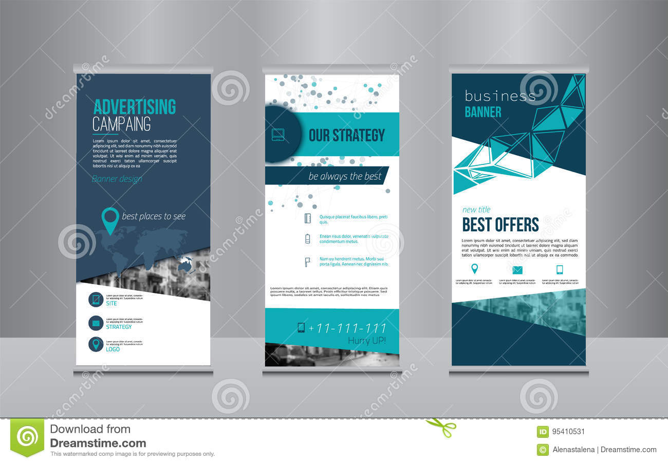 Rollup Rollup Banner Design With Simple Shapes For Minimalistic Company