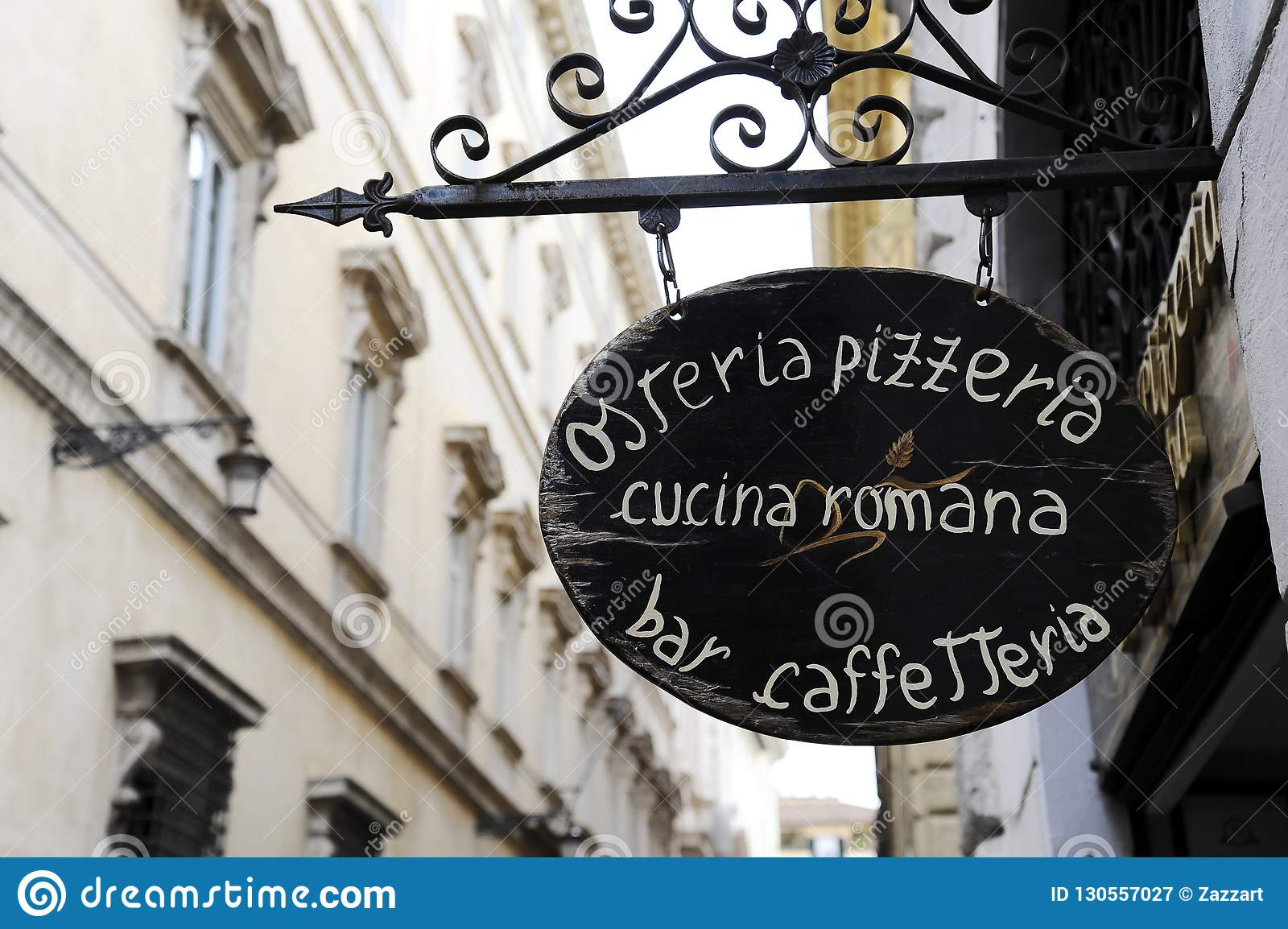 Cucina Osteria Rome Roman Cuisine Sign Of Italian Restaurant In Rome Italy Stock