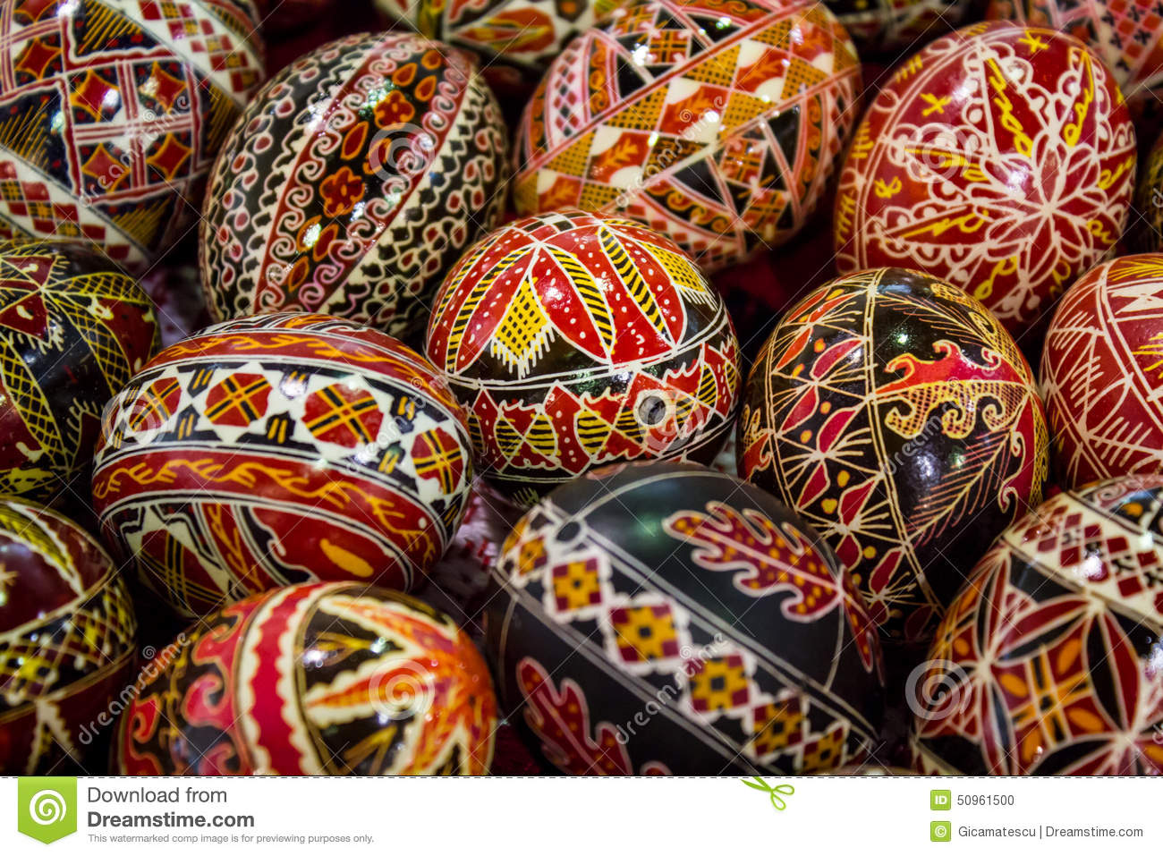 Black And Gold Textured Wallpaper Romanian Painted Easter Eggs Stock Photo Image 50961500