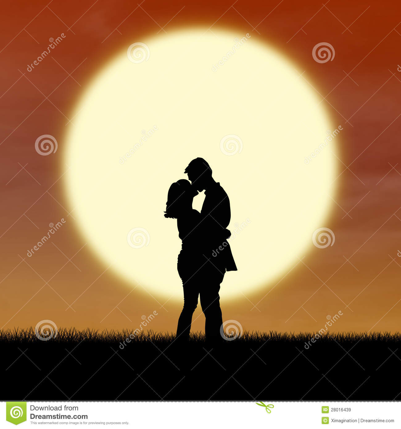 Boy Girl Kiss Love Wallpapers Romantic Couple Silhouette Kiss By Sunset Royalty Free