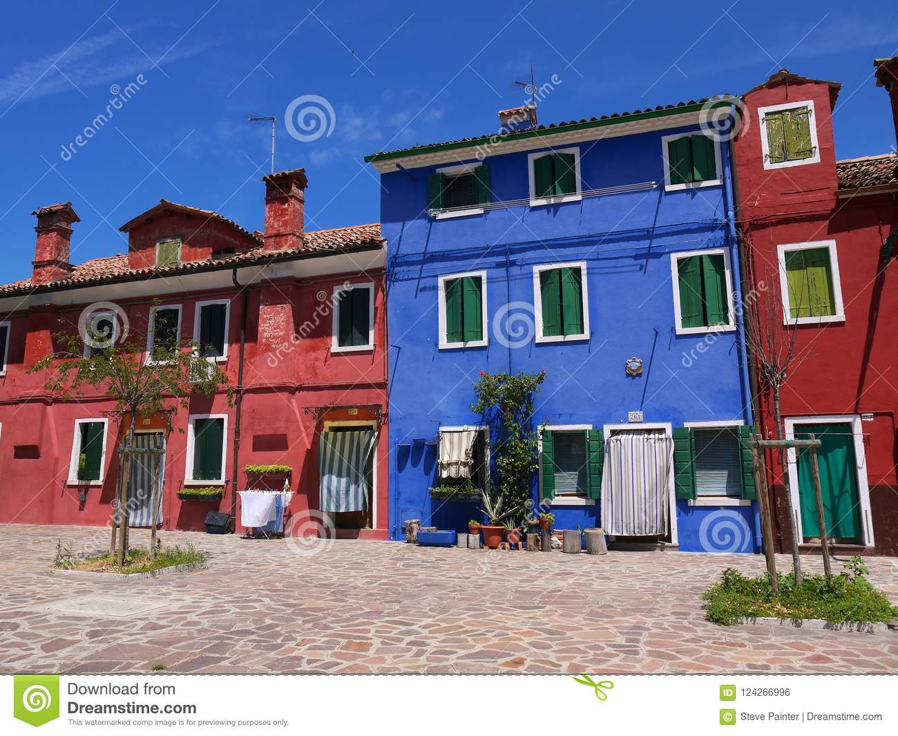 Brilliant House The Houses Painted In Brilliant Pastel Shades At Burano Italy