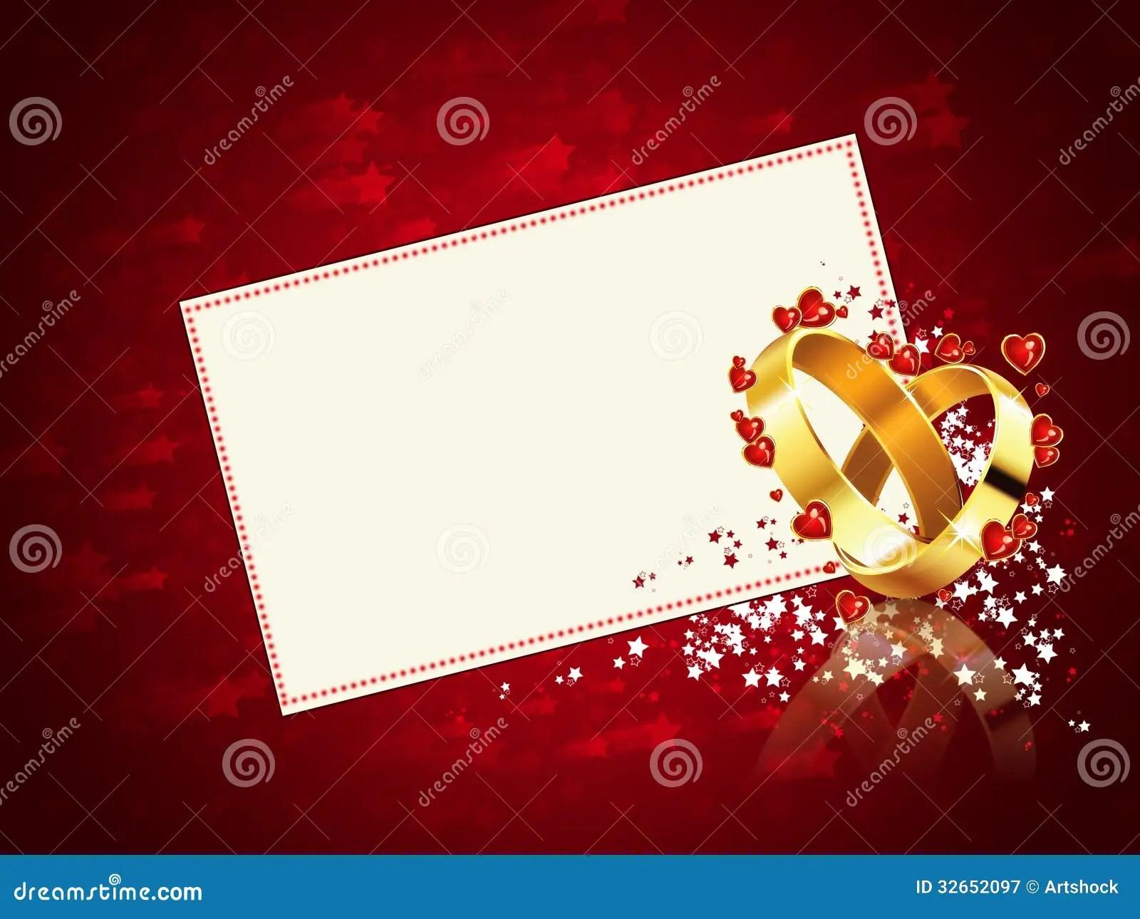 Ring Ceremony Hd Wallpaper Romantic Wedding Card Stock Illustration Image Of Golden