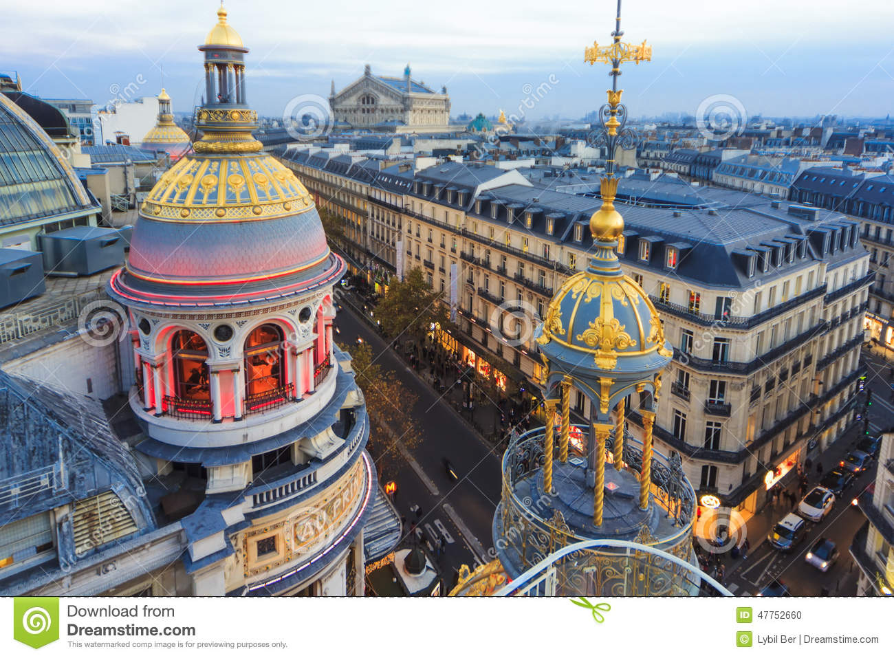 Le Printemps Paris Roof Of Paris Editorial Image Image Of Famous Architecture