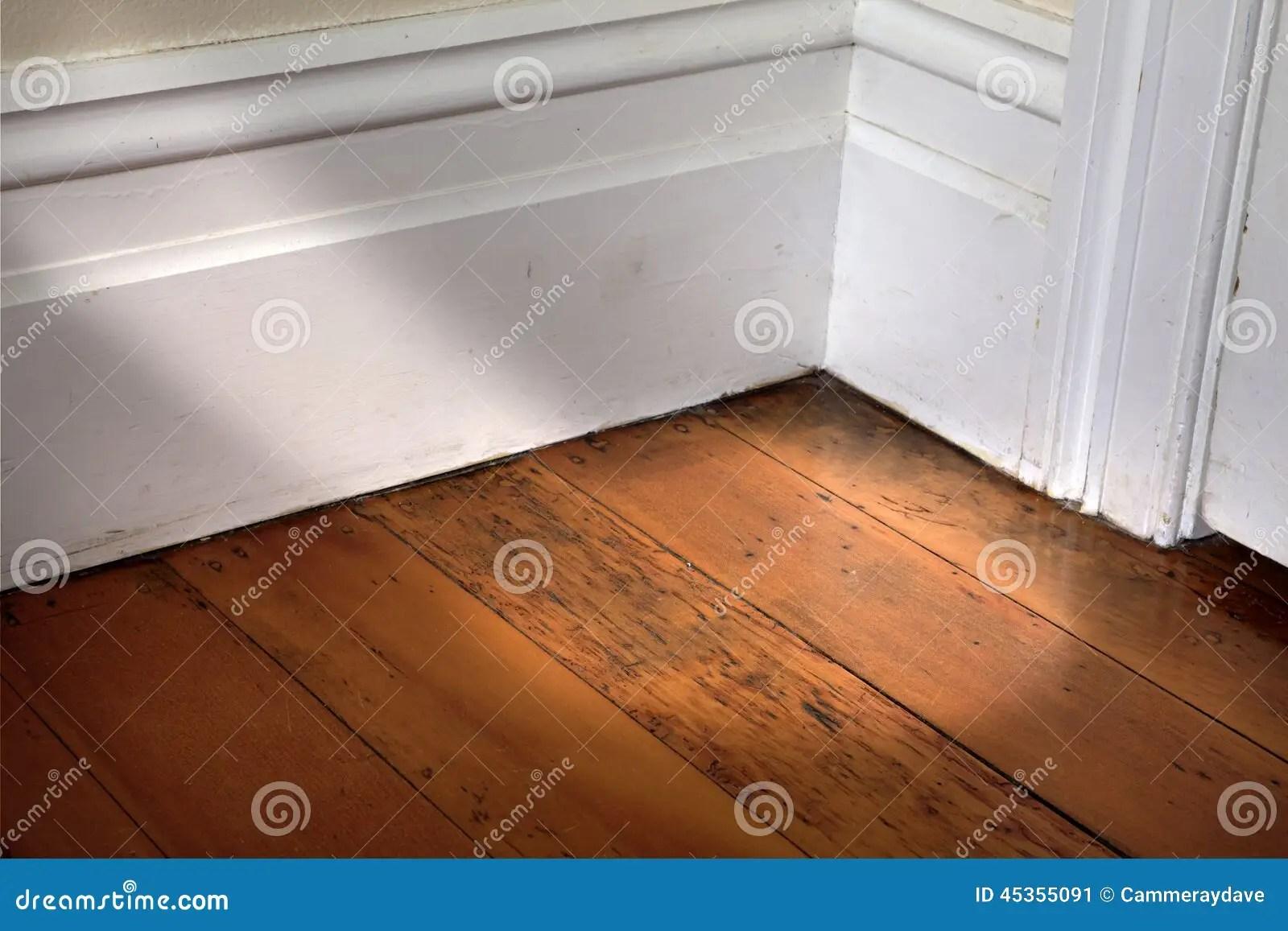 Room Corner Stock Image Image Of White Wood Floorboards