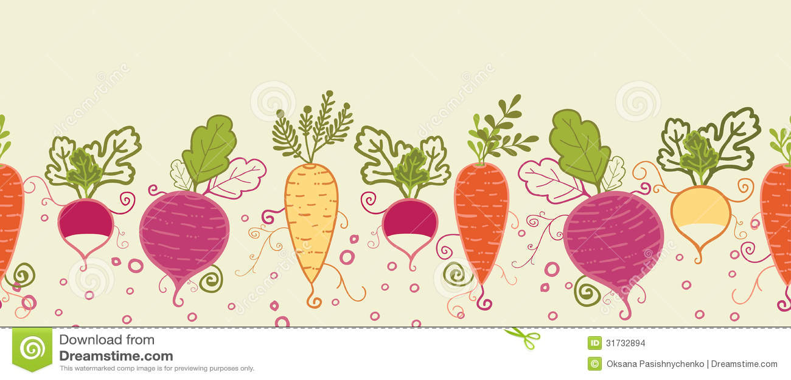 Vegetable garden border clipart vegetable garden border - Vegetable Garden Vector Root Vegetables Horizontal Seamless Pattern Stock Images Download