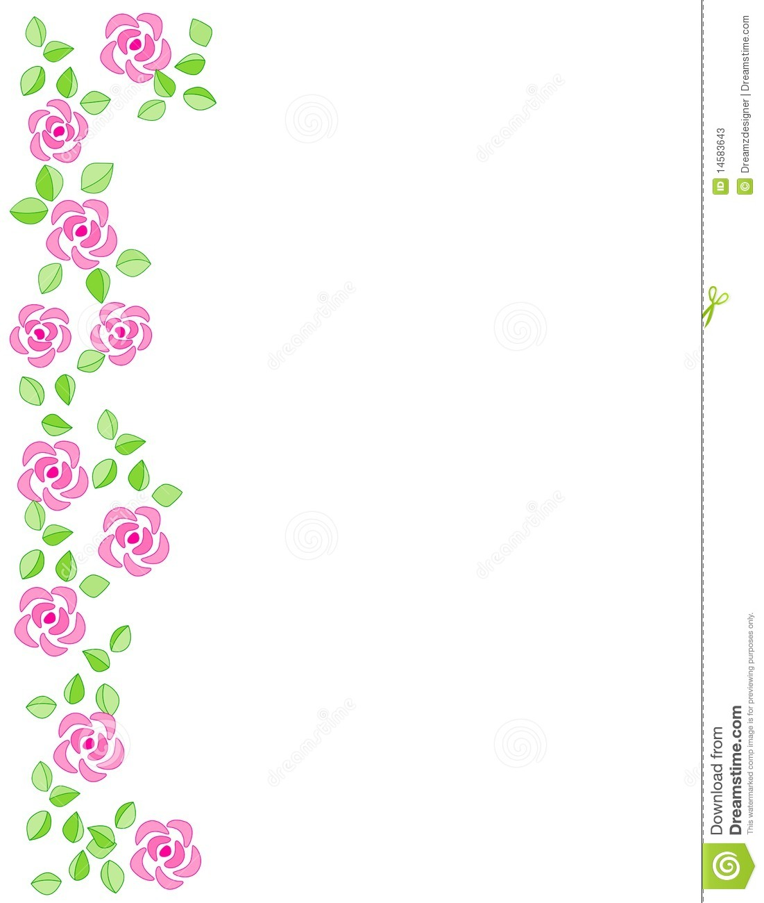 Cute Bordered Pastel Flower Wallpaper Rose Border Wedding Invitation Stock Vector Image