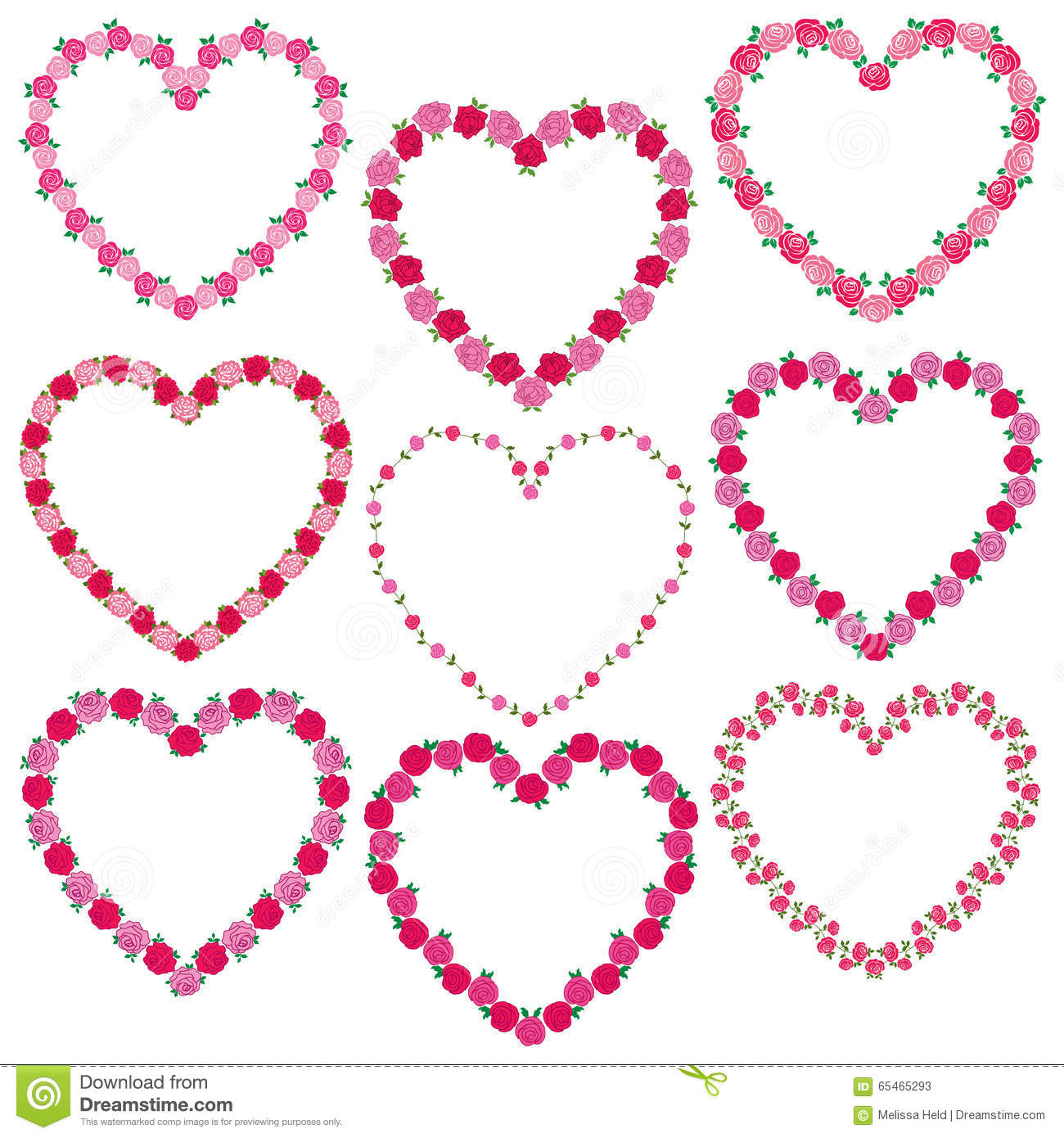 Rose Heart Frames Stock Illustration Illustration Of Card - Heart Frames For Photos