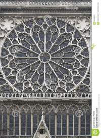 Rose Window Notre Dame Stock Photo - Image: 62453375