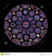 Round Stained Glass Window, Chartres Stock Image