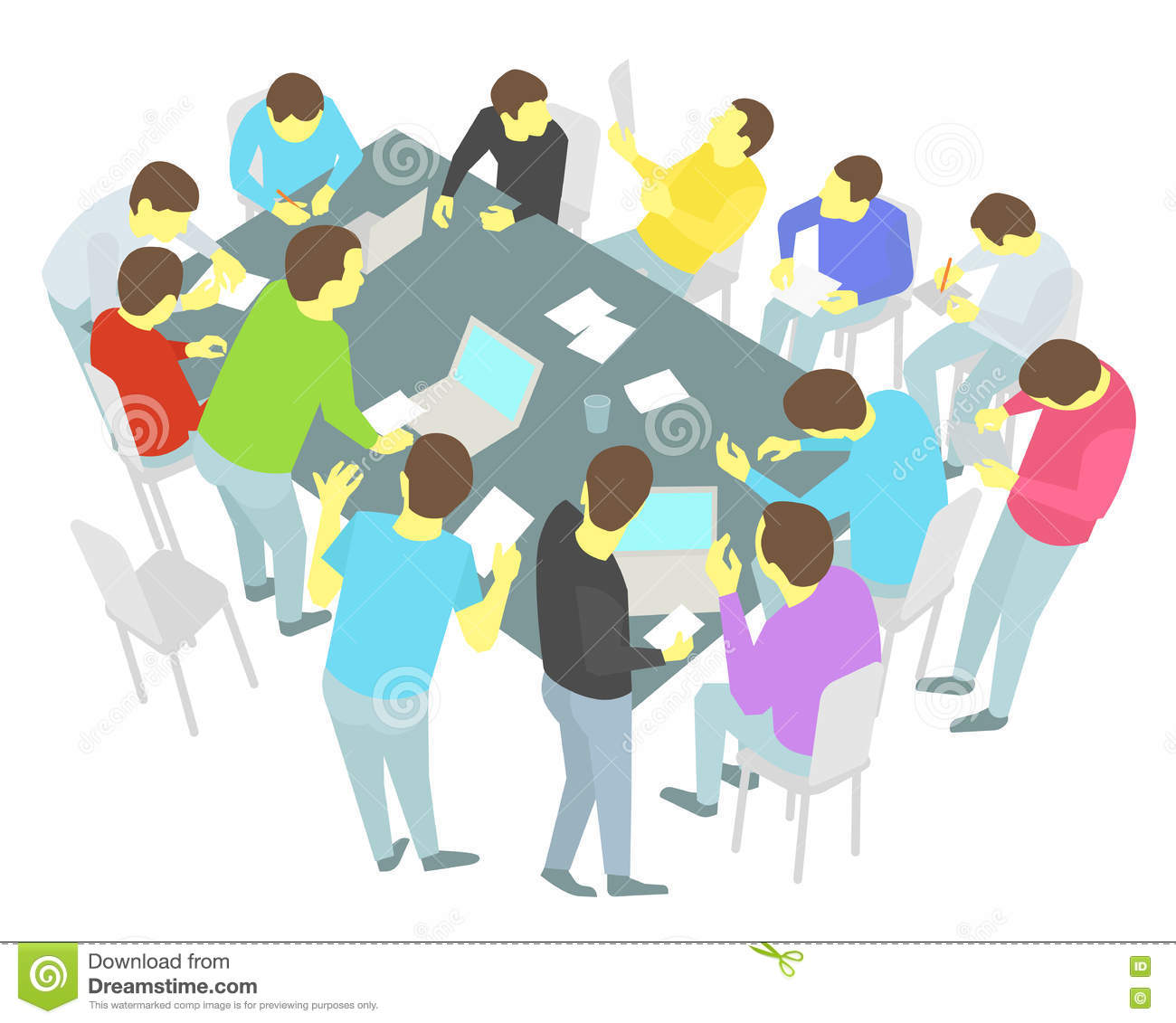 Round table meeting icon -  Round Table Discussion Icon Business Collaboration Conference Discussion Group Meeting People Download