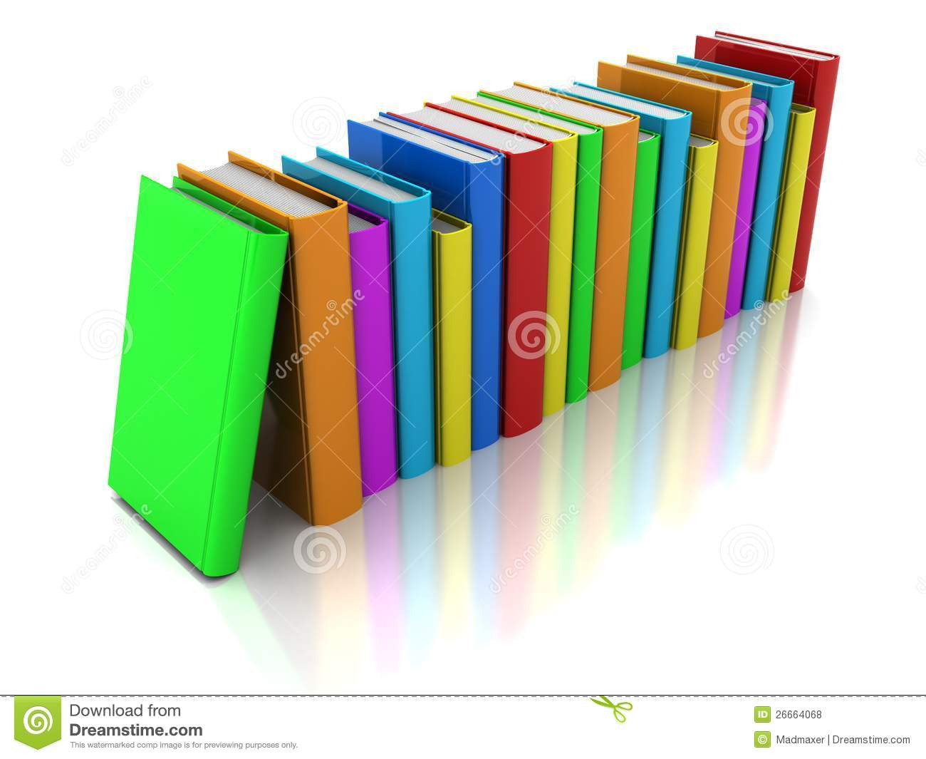 Row Of Books Vector Row Of Book Royalty Free Stock Photos Image 26664068