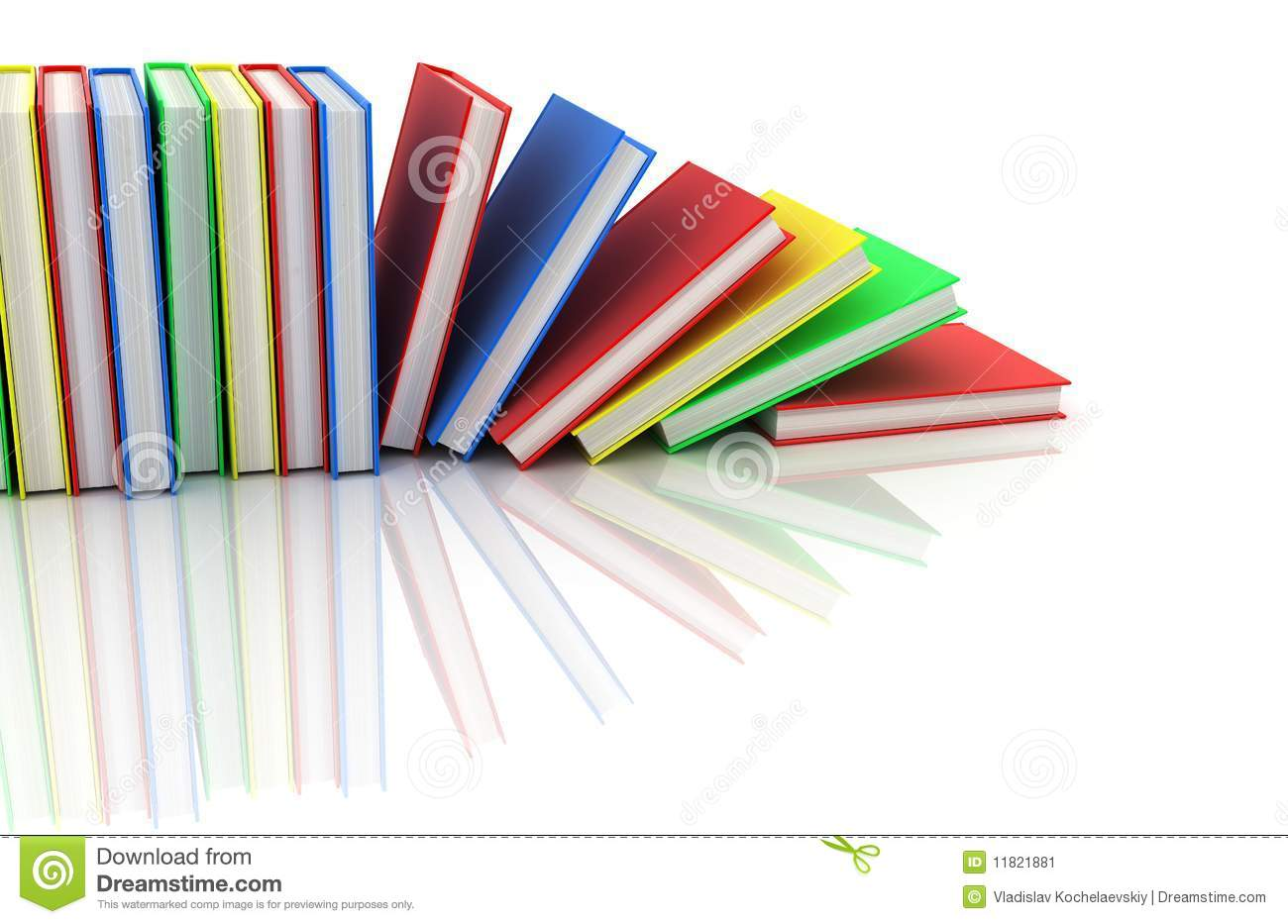 Row Of Books Vector Row Books Stock Image Image 11821881