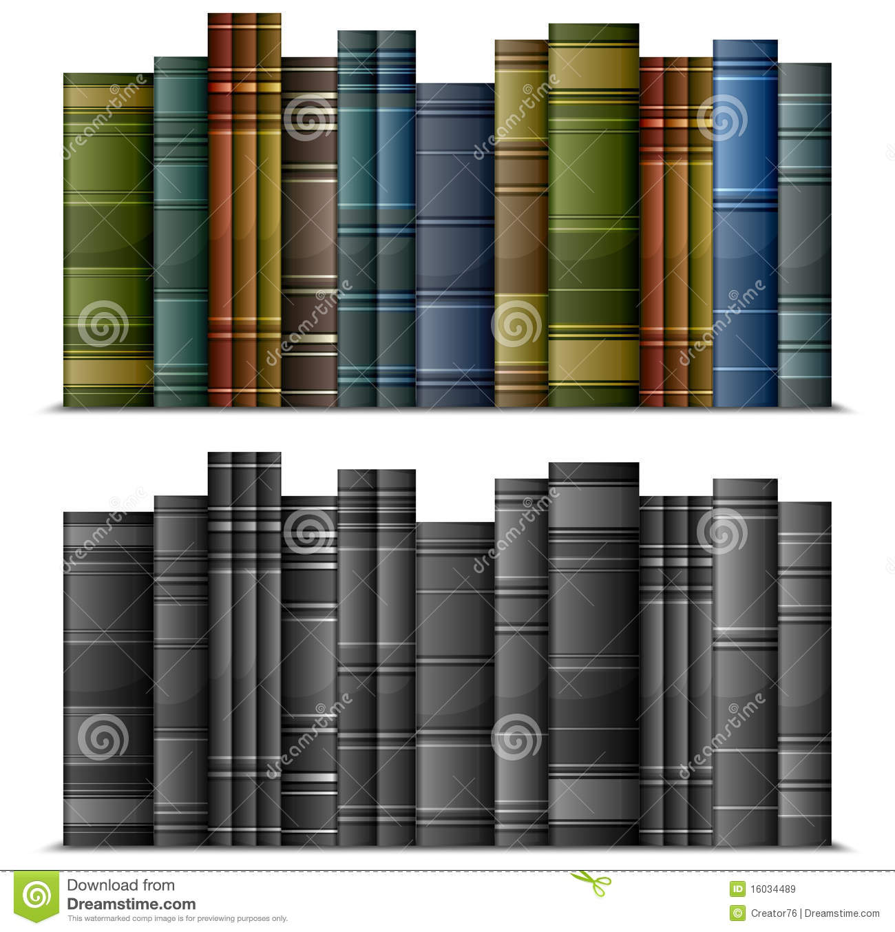Row Of Books Vector Row Of Books Royalty Free Stock Images Image 16034489