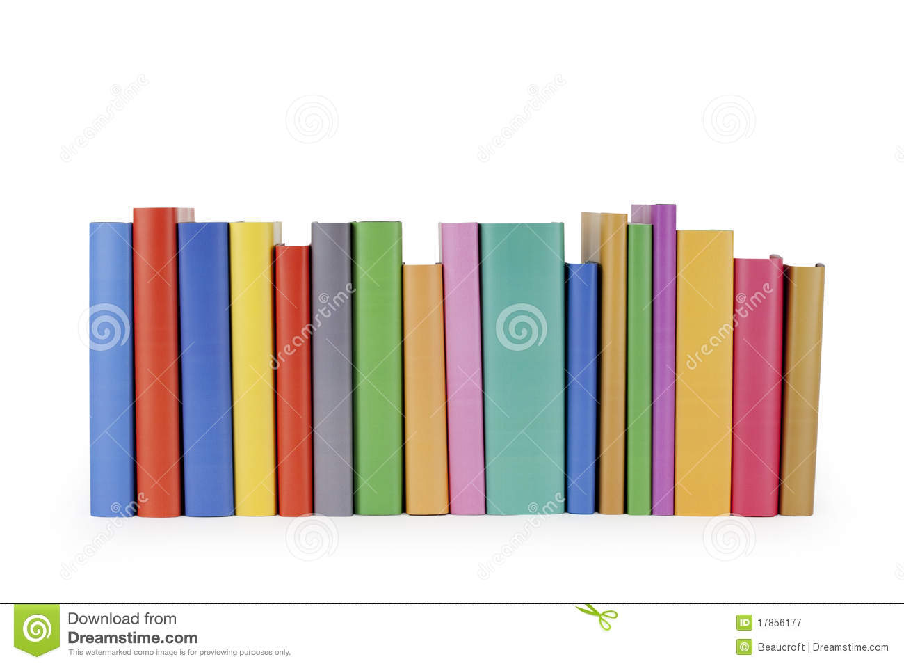 Row Of Books Vector Row Of Books Royalty Free Stock Photography Image 17856177