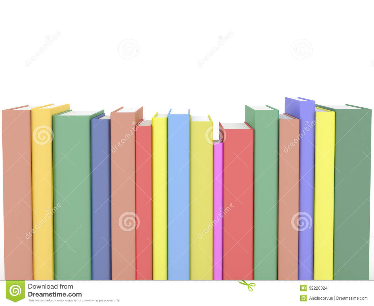 Row Of Books Vector Row Of Books Stock Images Image 32220324