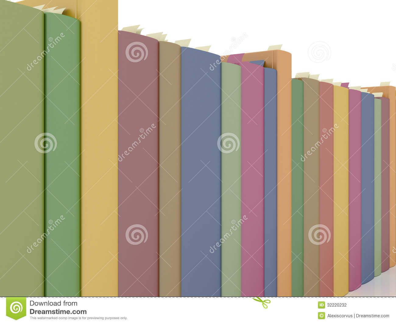 Row Of Books Vector Row Of Books Stock Photography Image 32220232