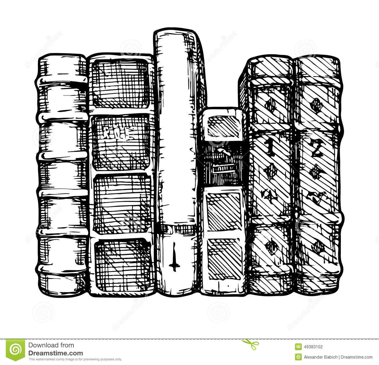 Row Of Books Vector Row Of Books Stock Vector Illustration Of Literature