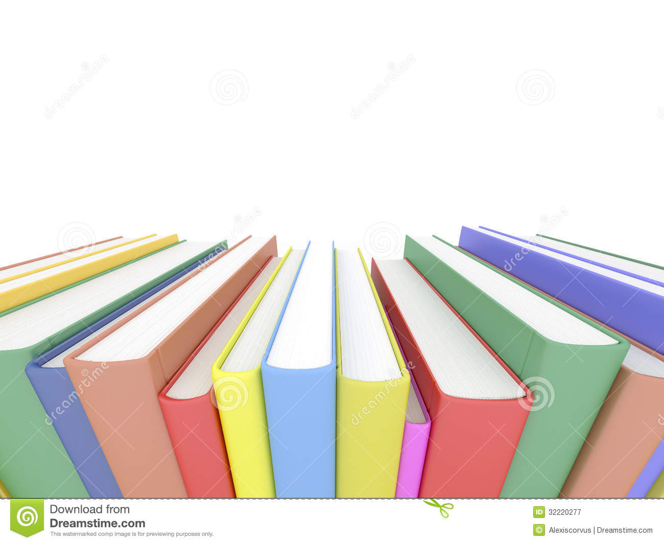 Row Of Books Vector Row Of Books On White Royalty Free Stock Photography