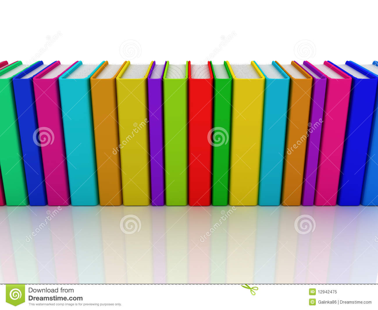 Row Of Books Vector Row Of Colorful Books Stock Illustration Illustration Of