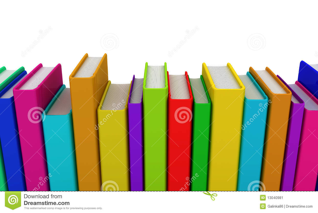 Row Of Books Vector Row Of Colorful Books Stock Image Image 13040981