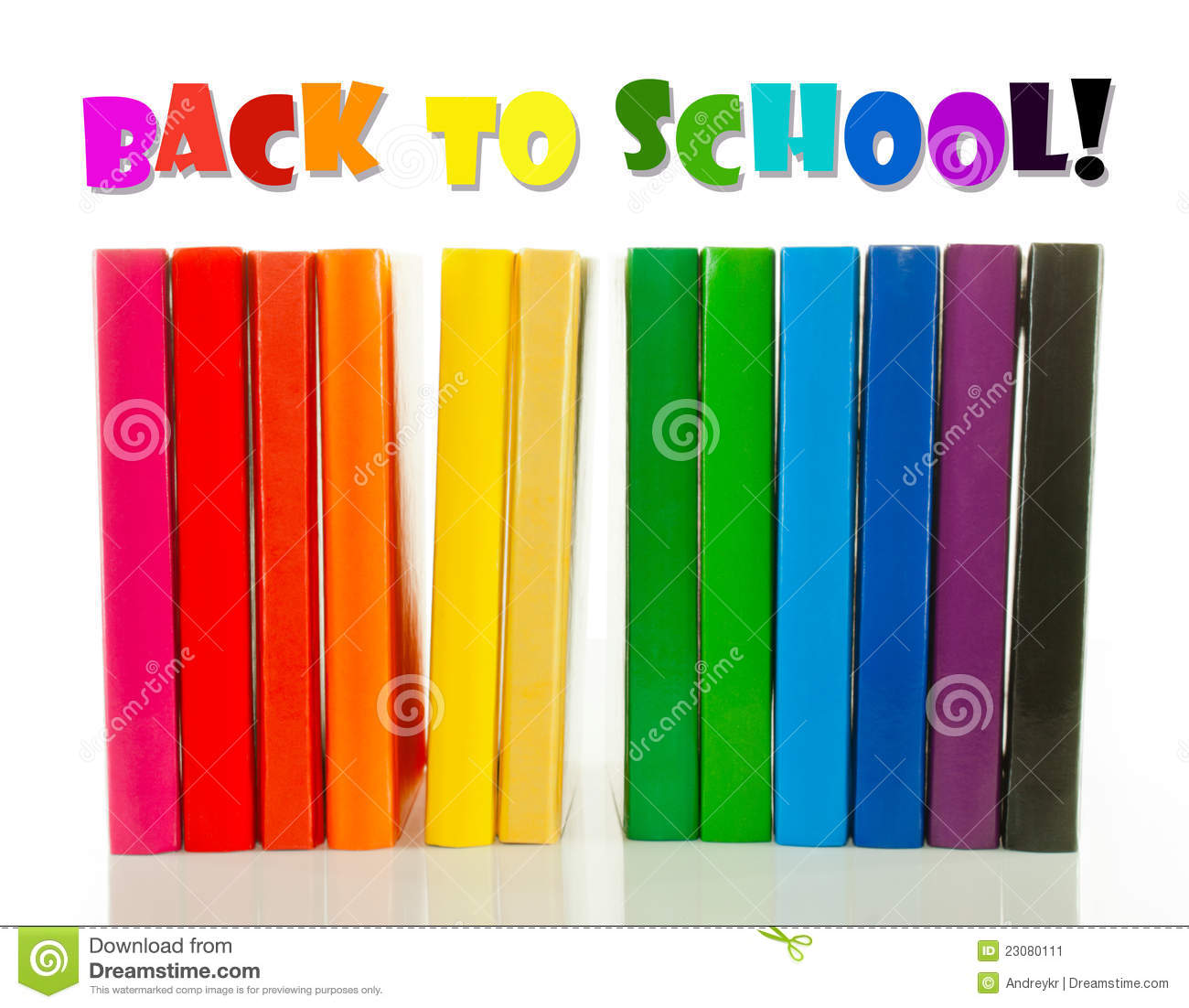 Row Of Books Vector Row Of Colorful Books Back To School Concept Stock Image