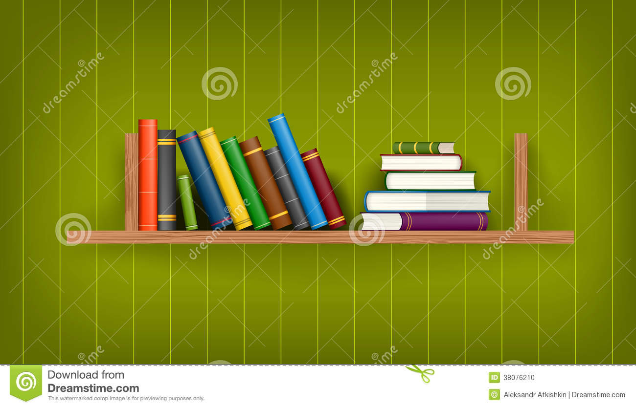 Row Of Books Vector Row And Stack Of Colorful Books Stock Photo Image 38076210