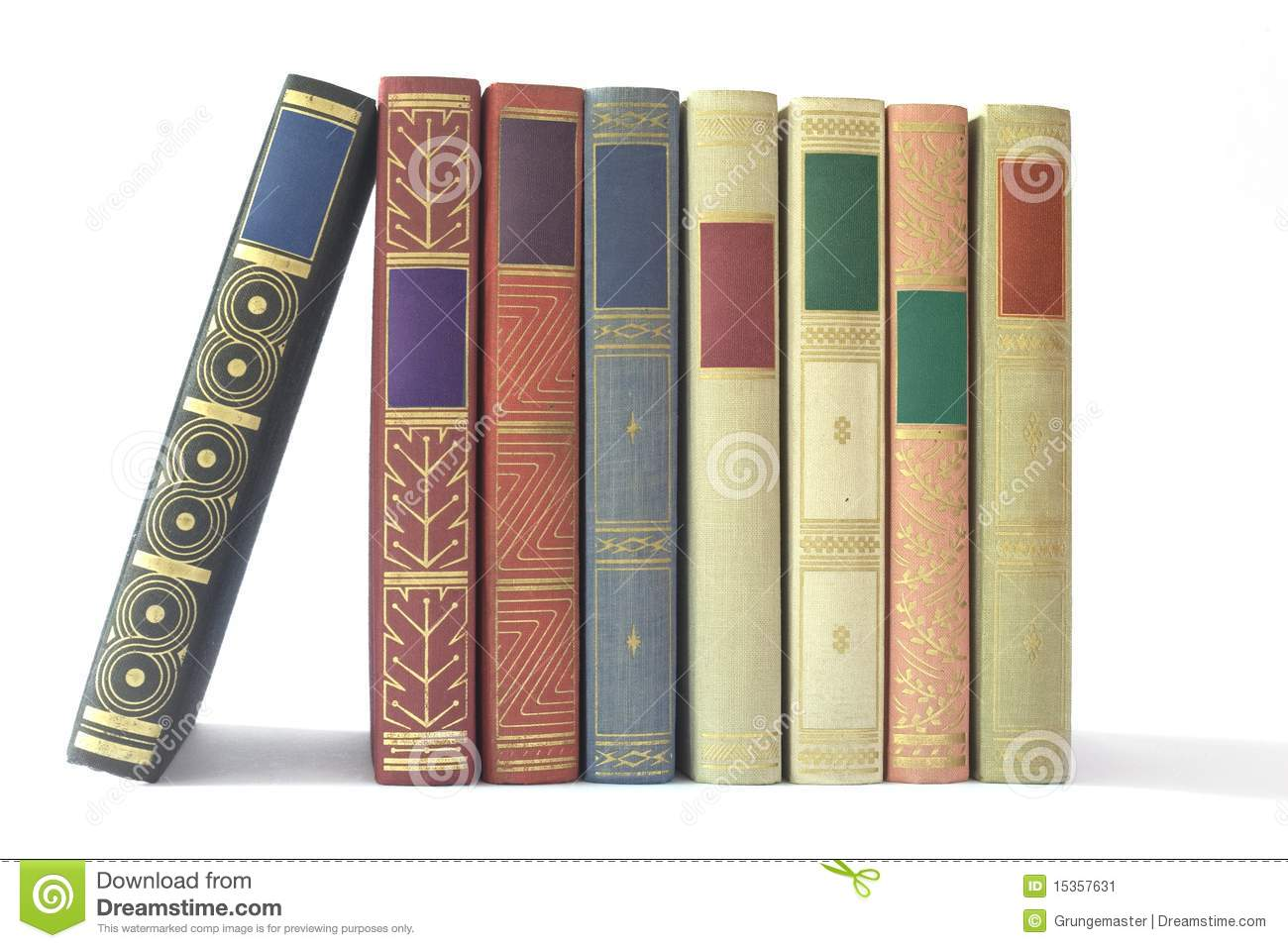 Row Of Books Vector Row Of Vintage Books Stock Image Image 15357631