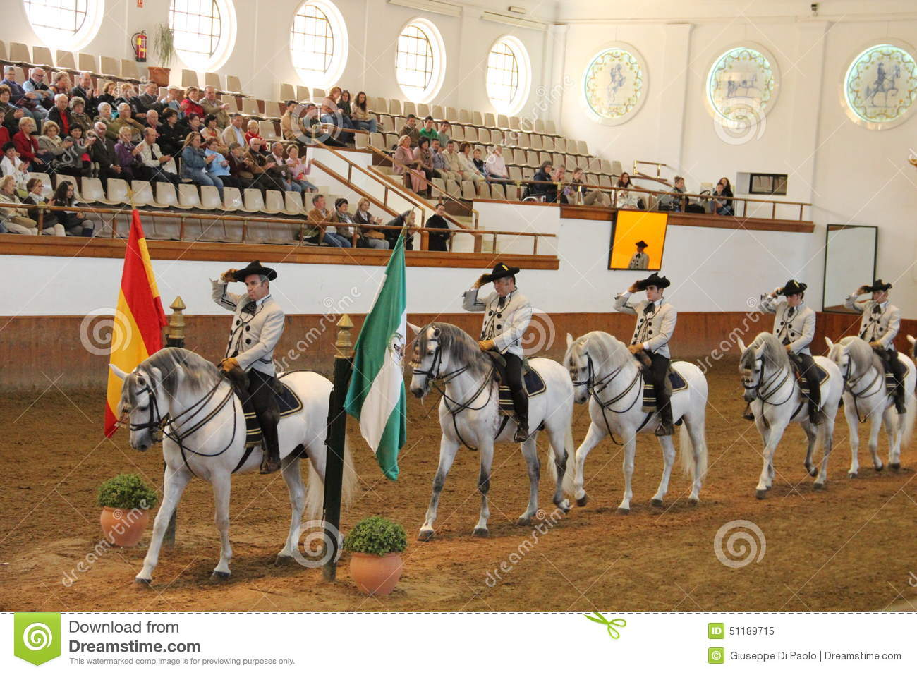 La Arte In Spanish Royal Andalusian School Of Equestrian Art Editorial Image Image