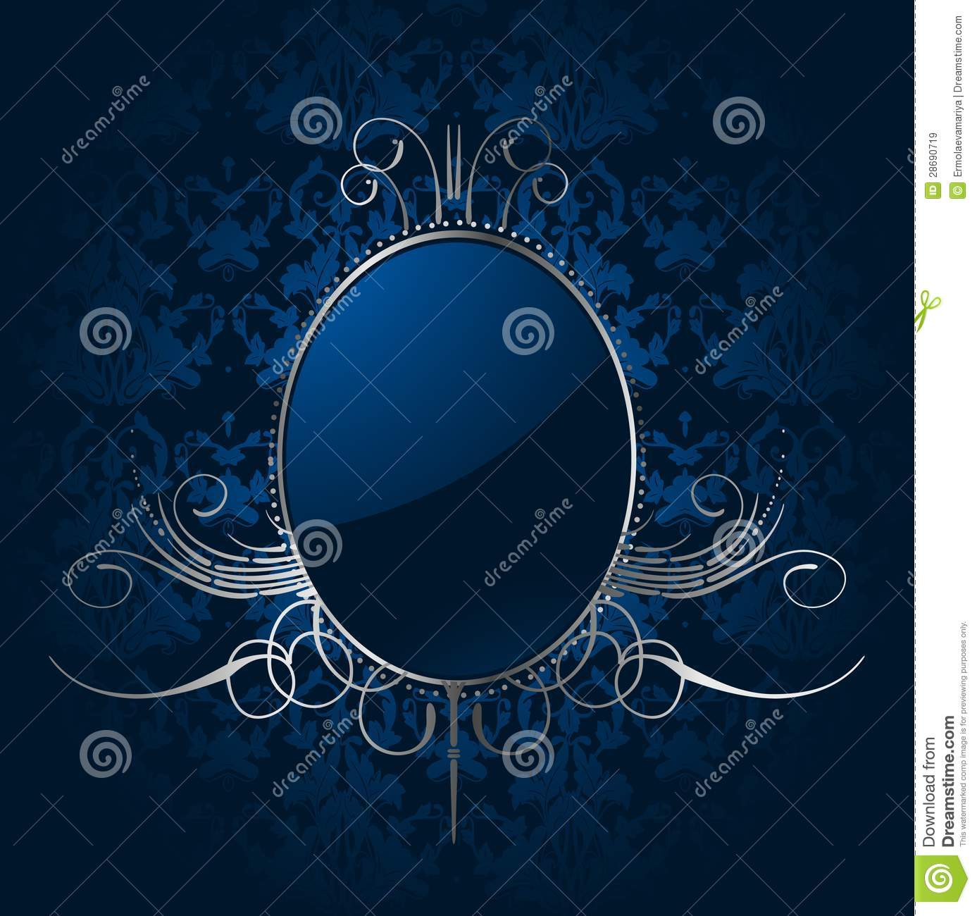 3d Wallpaper Free Download African Grey Royal Blue Background With Silver Frame Vector Stock