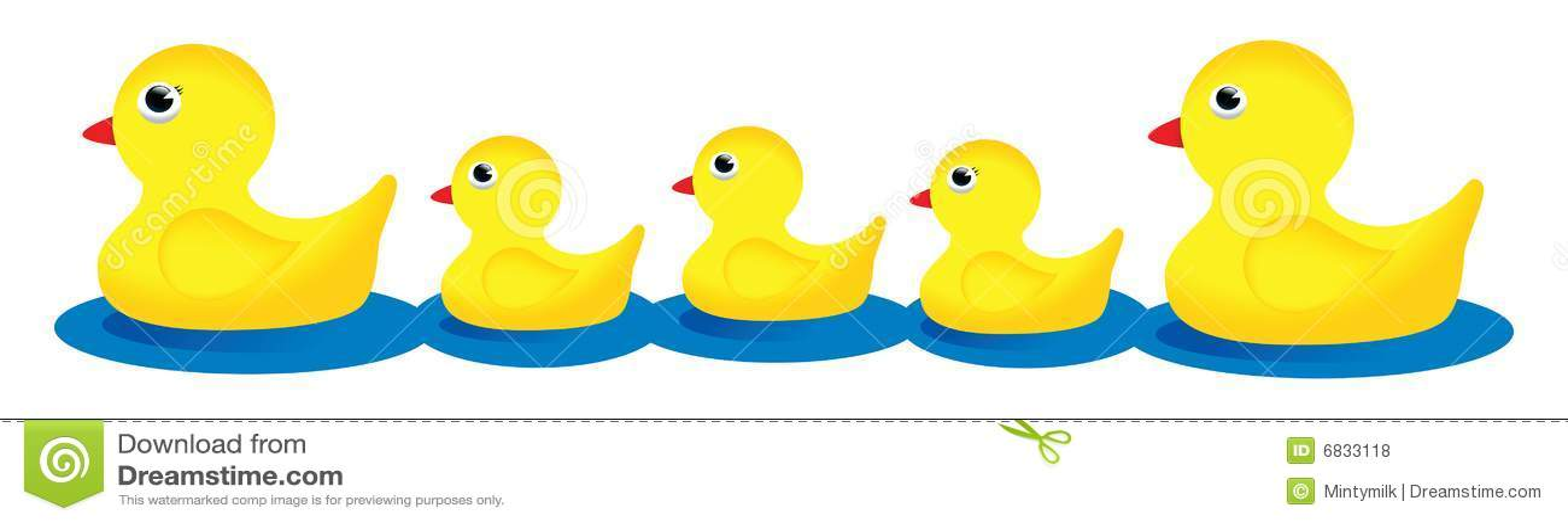 Fall Wallpaper Border Rubber Duck Family Stock Illustration Illustration Of