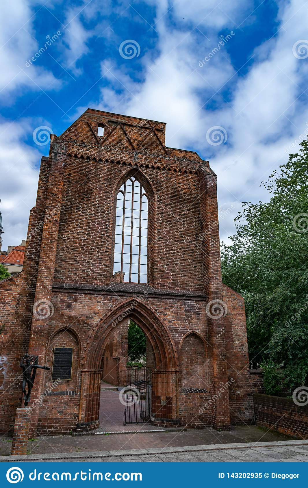 Berlin Gothic Ruins Of The Franciscan Church In Gothic Style In Berlin Stock