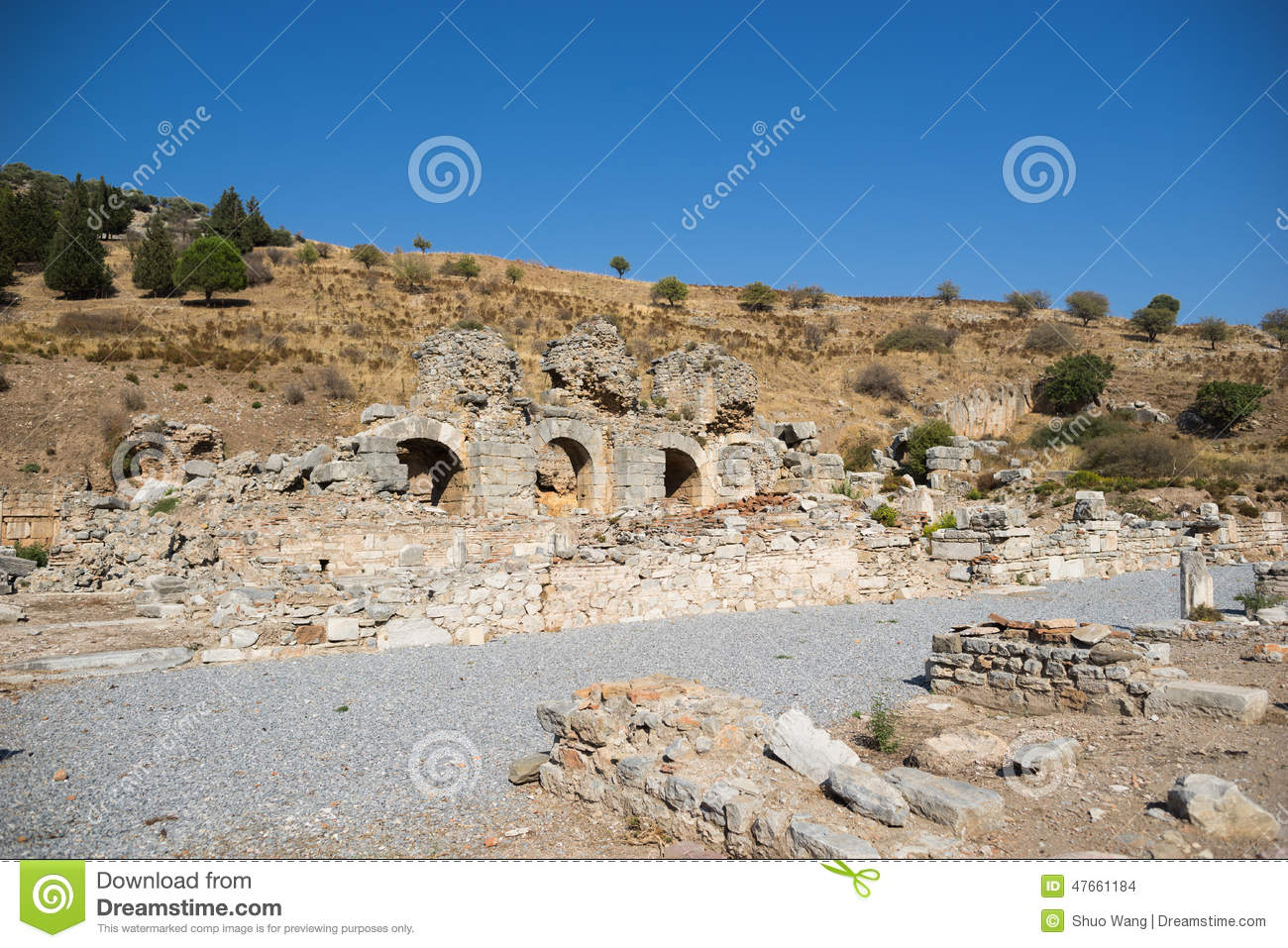 Arete From Greek Ruins Of Greek City Ephesus Stock Photo Image Of Historical