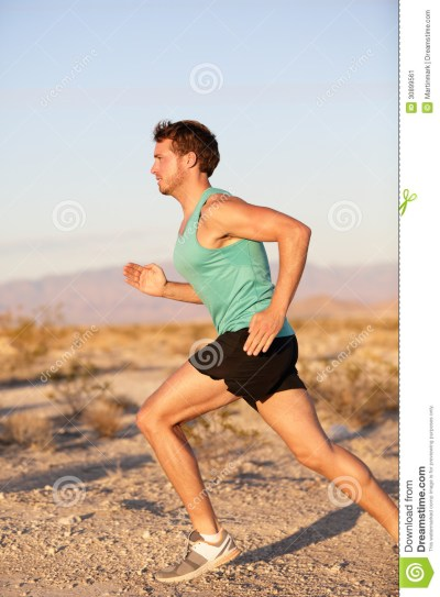 Runner Sport Man Running And Sprinting Outside Stock Image ...