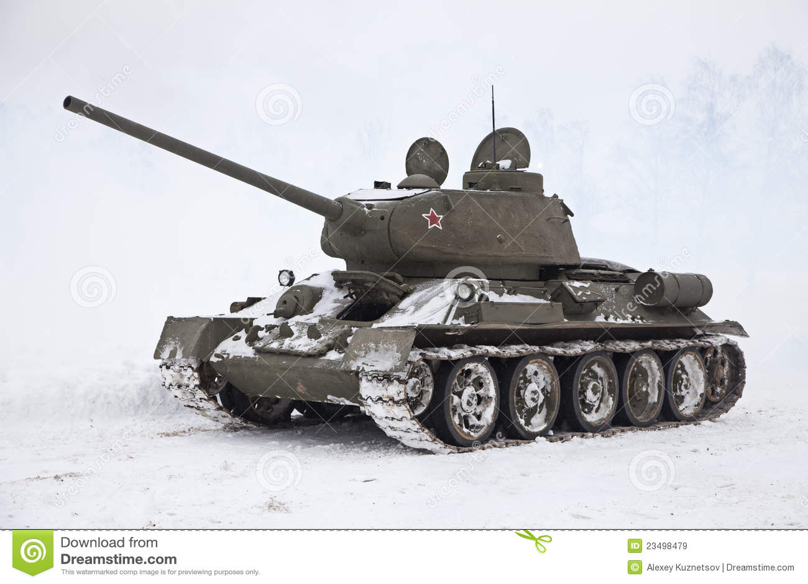 Royalty free stock photo legendary russian t34 tank