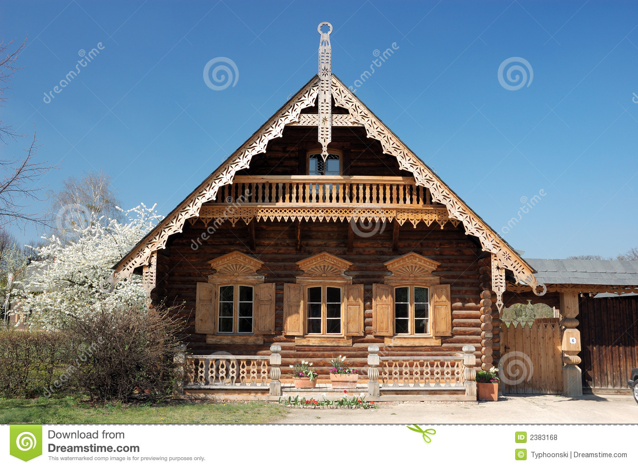 Russisches Holzhaus Russian Wooden House Royalty Free Stock Photos Image