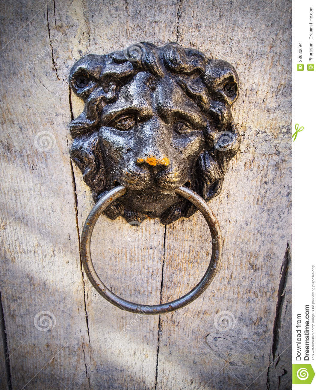 Rustic Door Knockers Rustic Old Door Knocker Stock Images Image 28630694