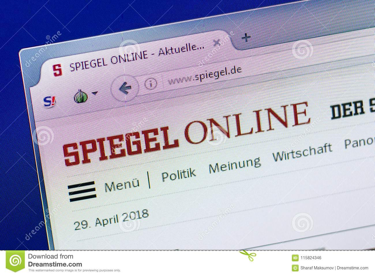 Spiehgel Online Ryazan Russia April 29 2018 Homepage Of Spiegel Website On