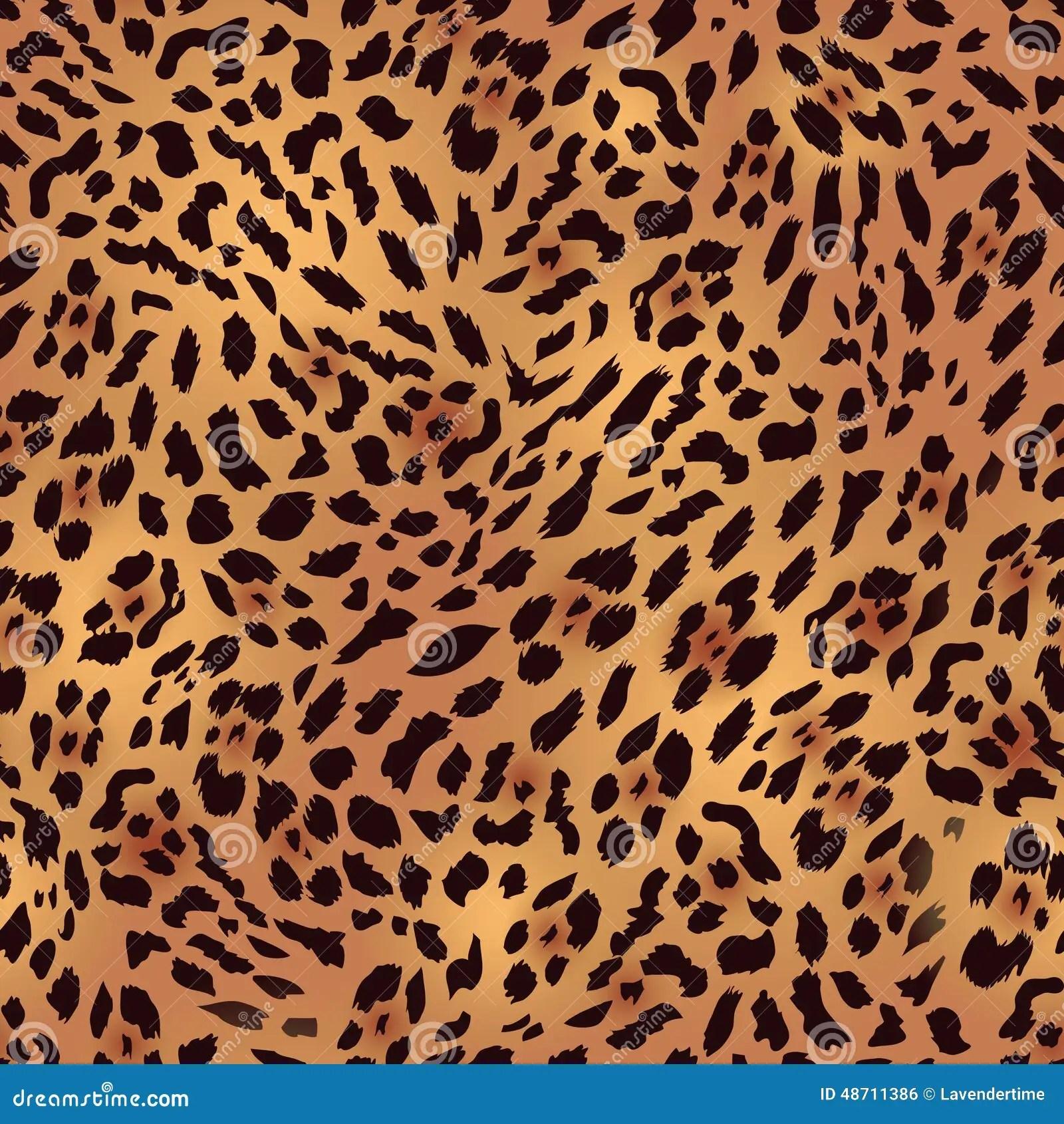 Leopard Animal Print Wallpaper Safari Leopard Fur Seamless Vector Print Stock Vector