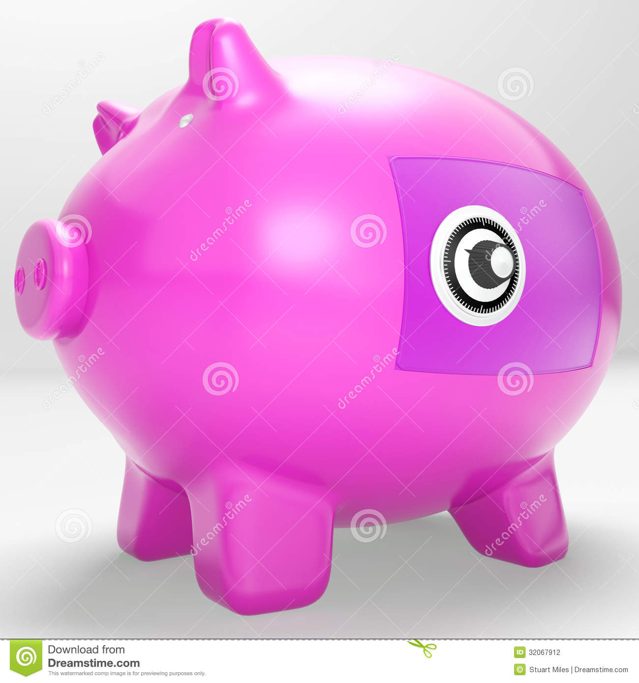 Piggy Banks With Locks Locked Piggy Bank Theft Royalty Free Stock Image