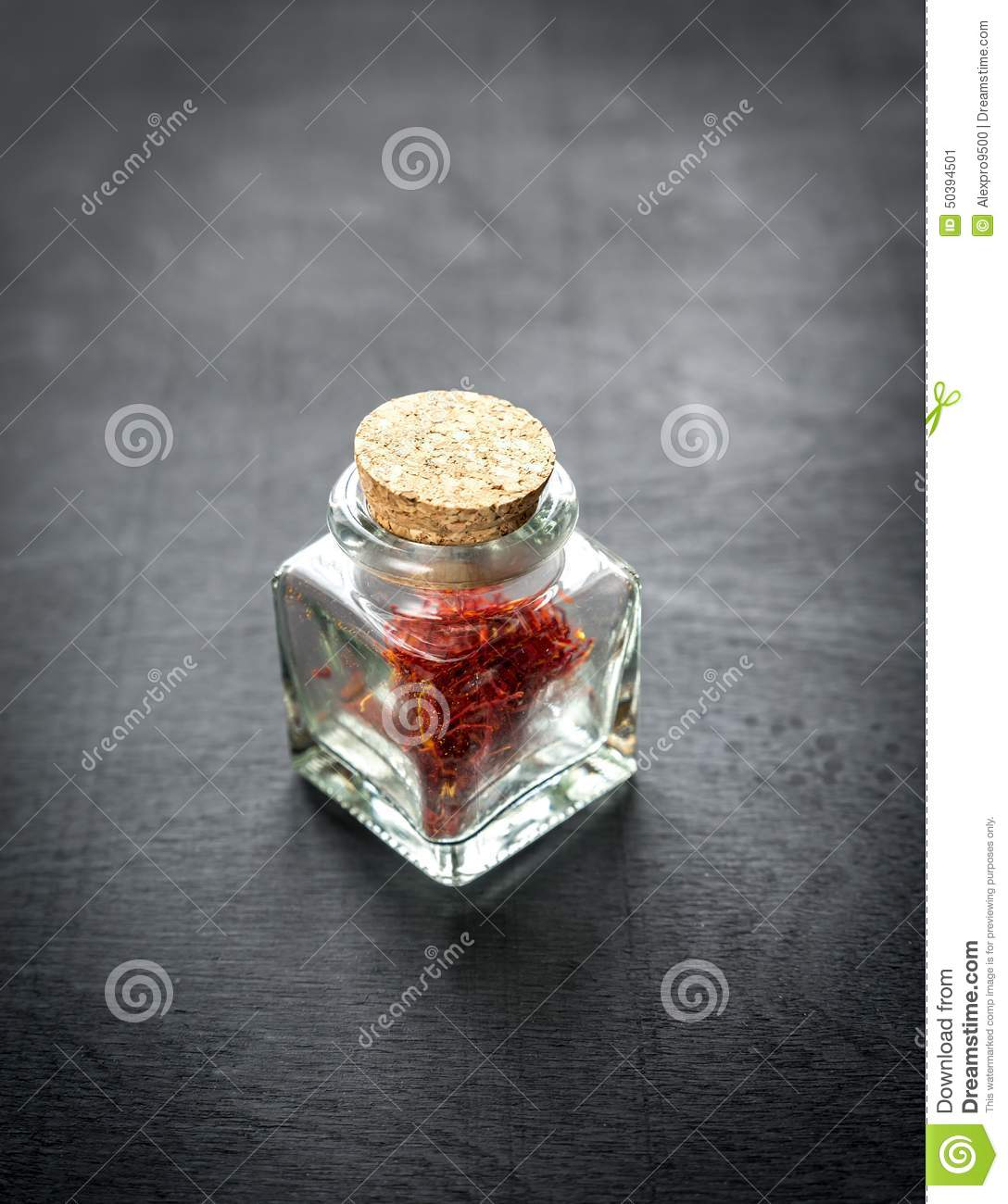 Cuisines Vial Saffron In The Vial Stock Image Image Of Flacon Black 50394501
