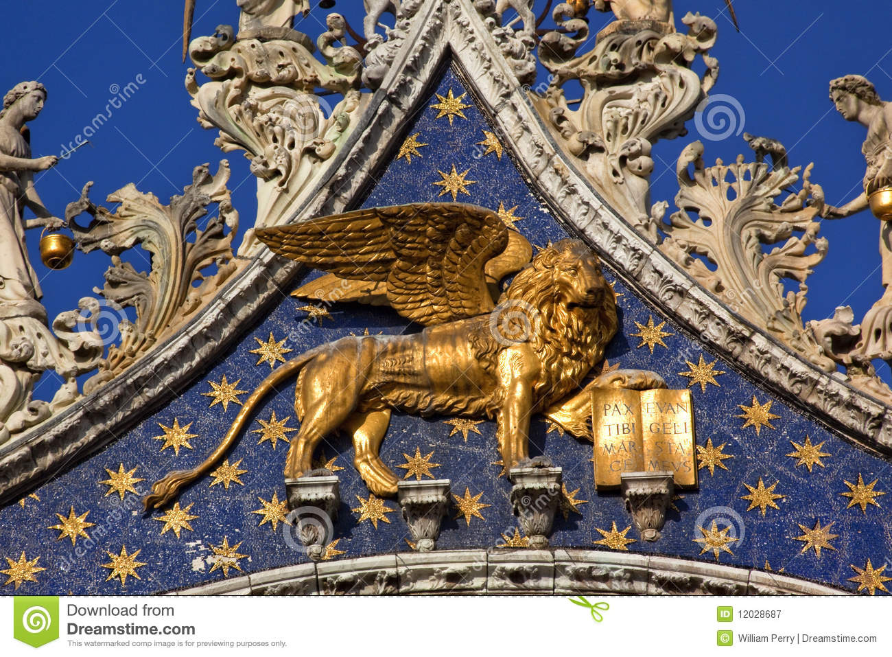 3d Animation Animals Wallpaper Saint Marks Basilica Golden Lion Venice Royalty Free Stock