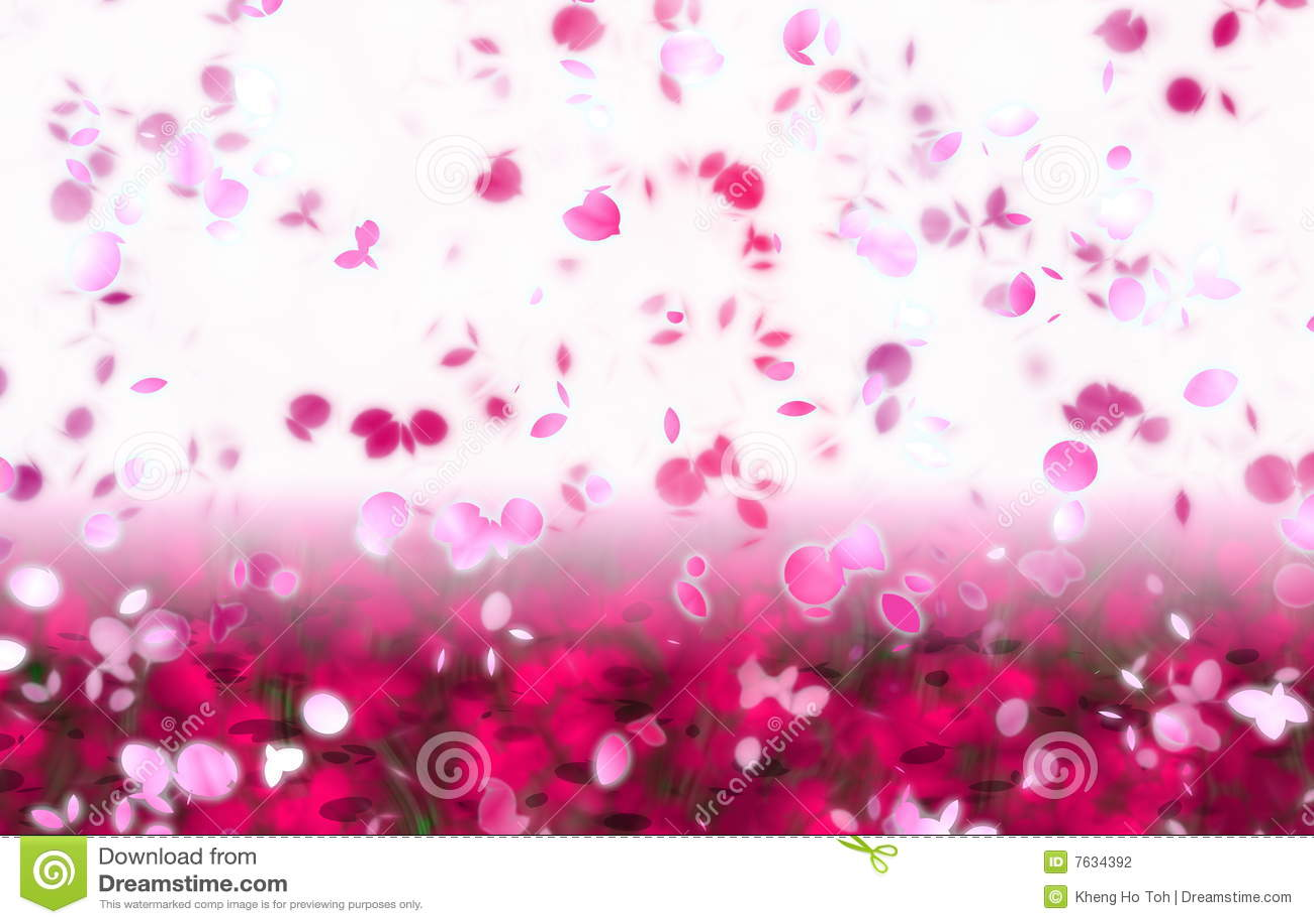Falling Cherry Blossoms Wallpaper Sakura Snowfall Petals Abstract Background Stock
