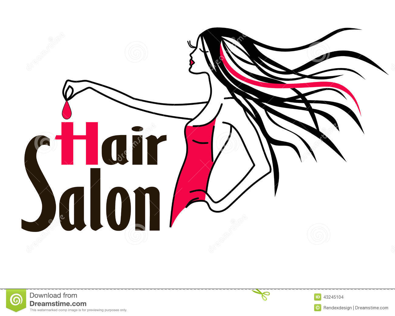 Logo Salon De Coiffure Salon De Coiffure Logo Icon Illustration De Vecteur