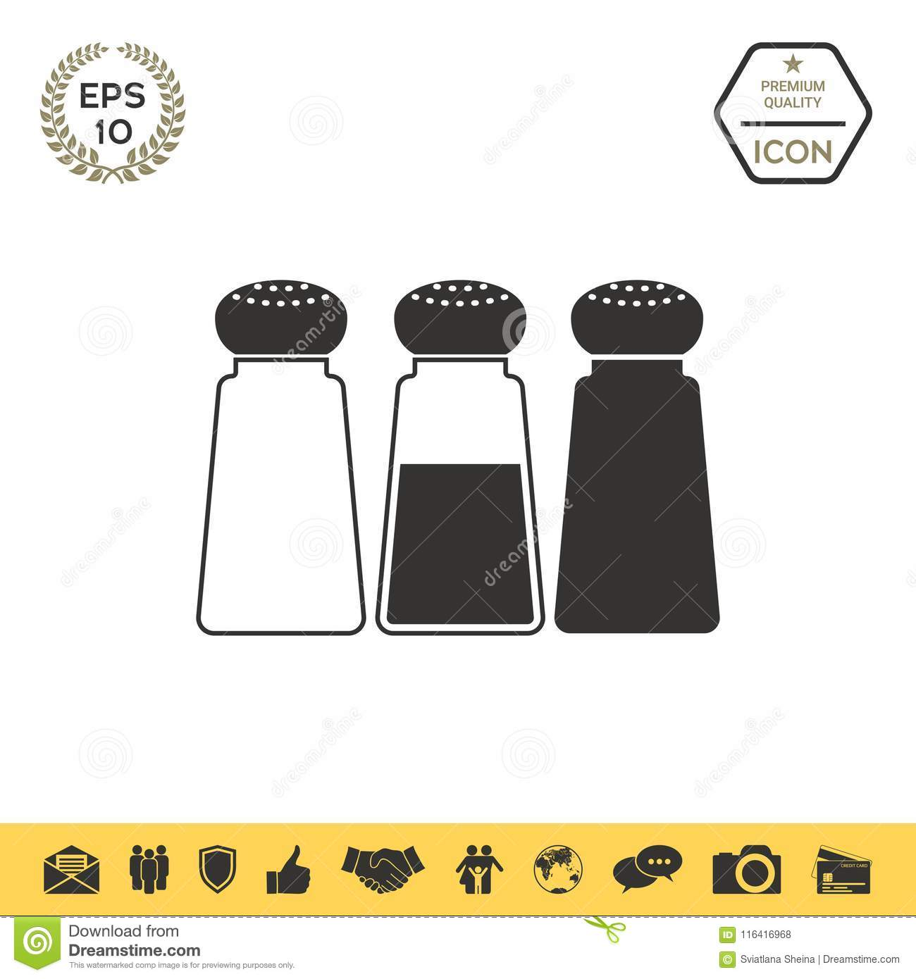 Modern Salt Pepper Shakers Salt Or Pepper Shakers Set Stock Vector Illustration Of Salted