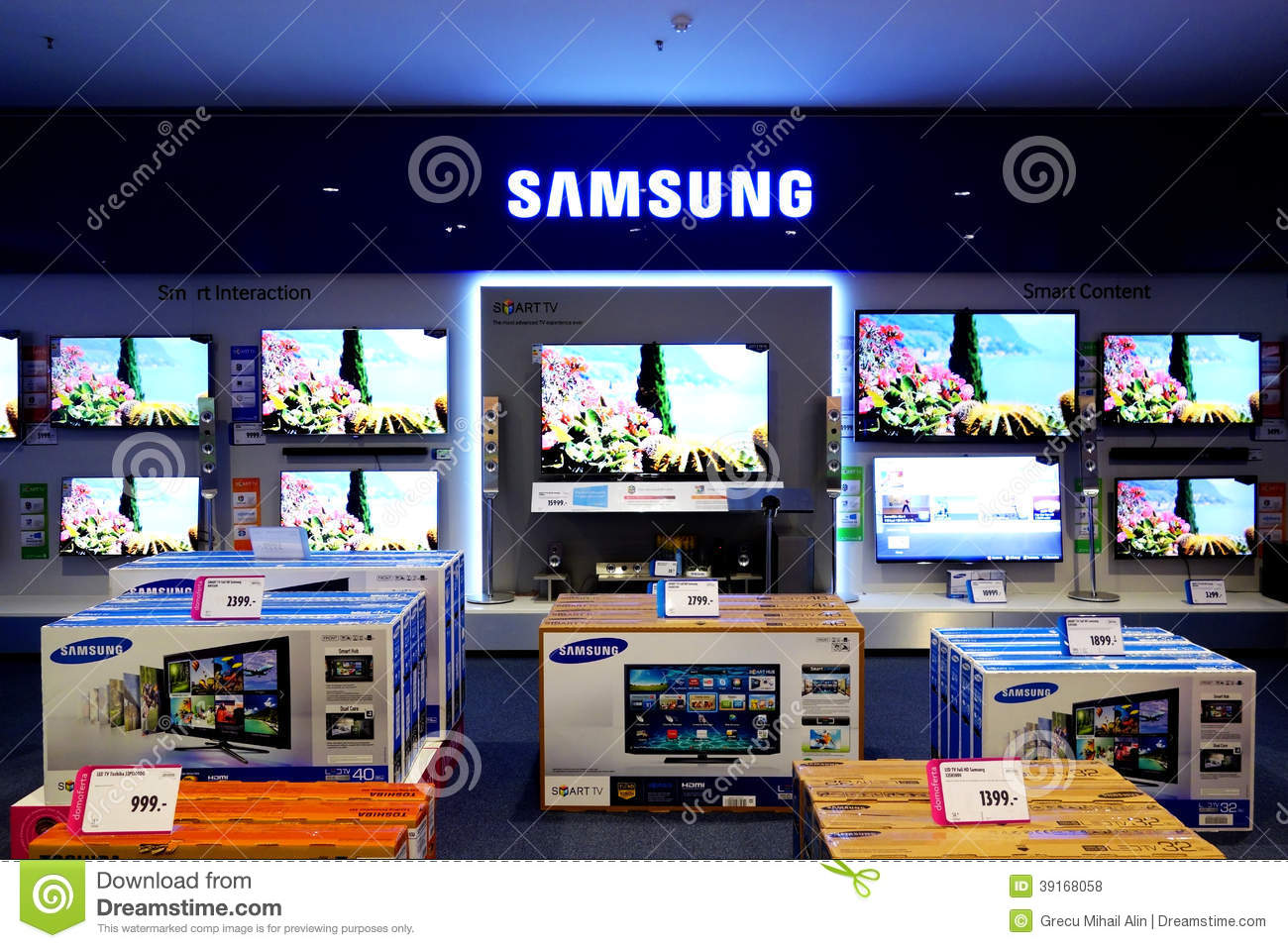 Tv Store Samsung Television Smart Tv Editorial Stock Photo Image